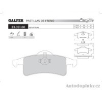 GALFER zadní brzdové desky typ FDT 1055 JEEP/OFF-ROAD GRAND CHEROKEE (WJ-WG) 4.0i V6 -- rok výroby 01- ( brzdový systém ATE )